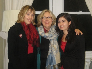 Finola Hackett + Andrea Morden + MP Elizabeth May 2