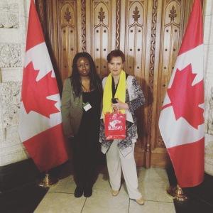 Kharoll-Ann Souffrant with MP Alexandra Mendès.