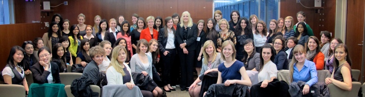 2011 Women in House Participants with Speakers Nycole Turmel, Susan Truppe and Elizabth May